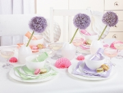 Paper Tableware Mint and Lilac