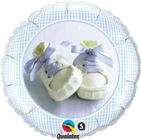 Blue Baby Shoes Foil Balloon