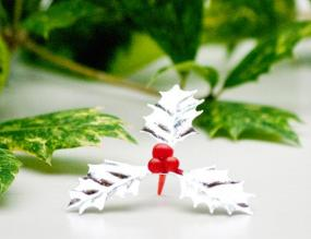 Silver Holly Christmas Cake Decoration