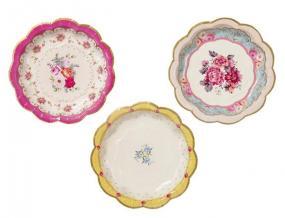 Truly Scrumptious Rose Paper Tea Plates