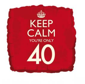Foil Balloon - Keep Calm You're Only 40