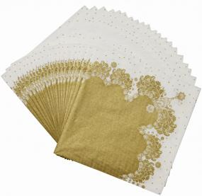 Gold Party Porcelain Luncheon Napkins