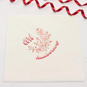 40th Ruby Wedding Anniversary Dinner Napkins