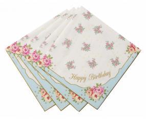 Truly Scrumptious Rose Birthday Napkins