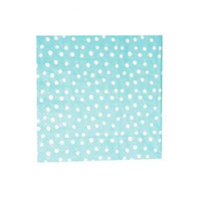 Caspari Little Dots Napkins Blue - Luncheon Size