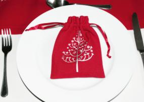 Red Christmas Gift Favour Bag - Sugar Pine By Peggy Wilkins