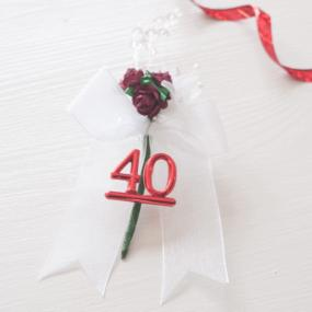40th Ruby Wedding Anniversary Cake Spray