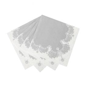 Silver Party Porcelain Napkins x 20