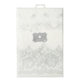 Silver Party Porcelain Paper Tablecloth