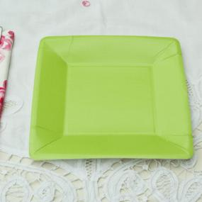 Square Green Party Side Plates by Caspari