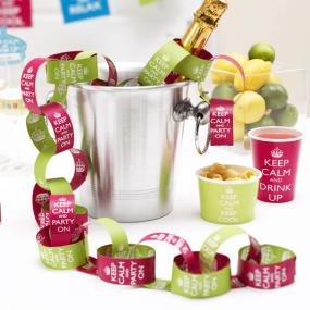 Keep Calm Paper Chain Pink and Lime