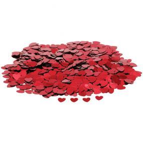 Red Hearts Table Confetti