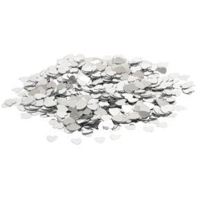Silver Hearts Table Confetti