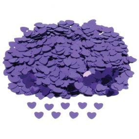 Purple Hearts Table Confetti