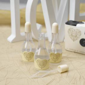 Ivory and Gold Bubbles Vintage Romance