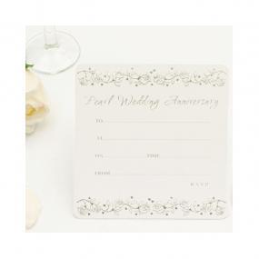 Pearl Wedding Invitations - Single Sided