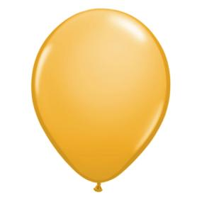Metallic Gold Latex Balloons x 6