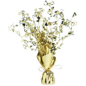 Gold Heart Table Centrepiece