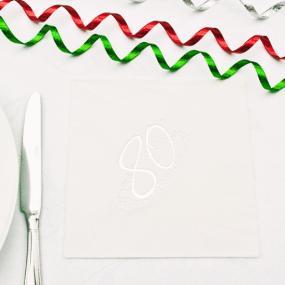 80th Birthday Napkins Silver Star - Luncheon Size