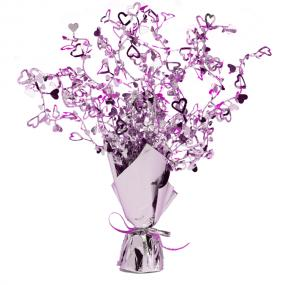 Lilac Hearts Table Centrepiece