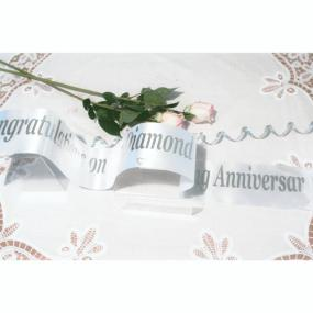 Personalised 60th Diamond Wedding Anniversary Banner