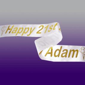 Personalised 21st Birthday Banner