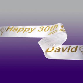 Personalised 30th Birthday Banner