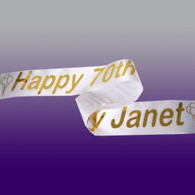 Personalised 70th Birthday Banner