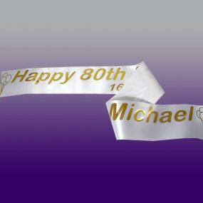 Personalised 80th Birthday Banner