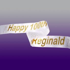 Personalised 100th Birthday Banner