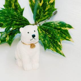 Polar Bear Christmas Cake Decoration