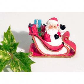 Santa On Sleigh Christmas Cake Decoration