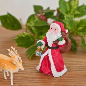 Ceramic Traditional Santa - Christmas Cake Decoration