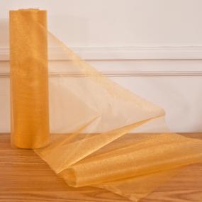 Gold Organza Roll - Snow Sheer