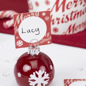 Merry Christmas Design Place Cards