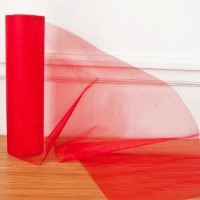 Red Organza Roll - Snow Sheer