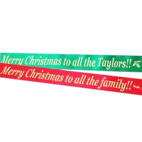 Personalised Christmas Cake Ribbon