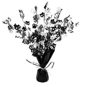 18th Birthday Centrepiece Black and Silver