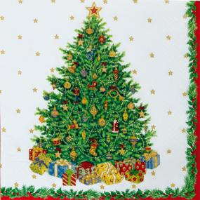 Christmas Tree Luncheon Napkins - Christmas Napkins by Caspari