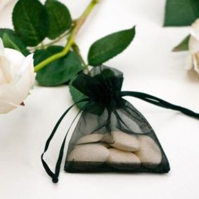 Black Organza Favour Bag