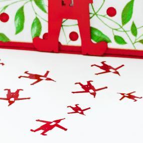Santa Metal Christmas Table Confetti