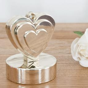 Champagne Ivory Heart Balloon Weight