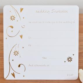 Wedding Invitations Scroll x 10
