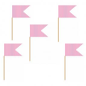Hot Pink Canape Flags