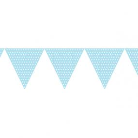 Pale Blue Paper Bunting