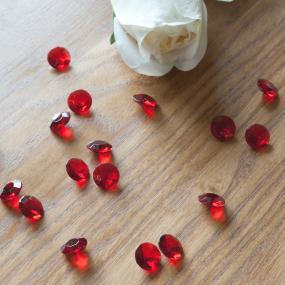 Red Diamante Table Crystals