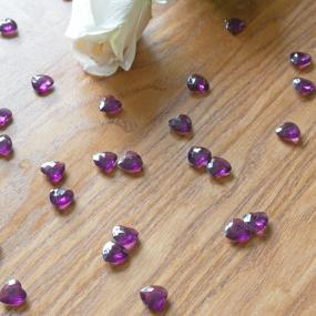 Burgundy Heart Diamantes x 75