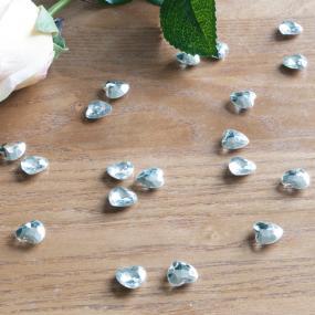 Large Silver Heart Diamantes x 75