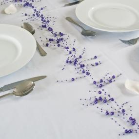 Purple Pearl Garland - 2 metre
