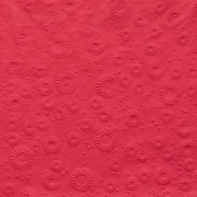 Ruby Red Embossed Dinner Napkins